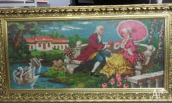 Large Tapestry - Victorian Scene Features: 107cm X 47cm