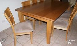 This listing is for the complete dining setting as
