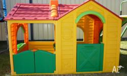LARGE VILLA CUBBY HOUSE Double cubby house with two