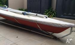 Laser Dinghy for sale. This sailboat would suit a first