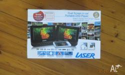 BRAND NEW IN BOX DUAL SCREEN DVD PLAYER (NOT OPENED)