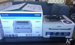 Brother mono laser printer comes with all things (CD,