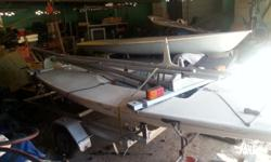 laser sail boat + 2nd hull project new sail, trailer,