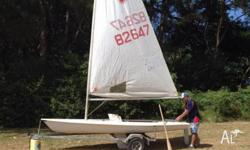 Used Laser sailing boat with all gear ready to go on
