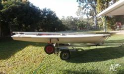 Laser Sailing Dinghy with Radial Rig and alloy beach