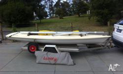 Laser sail boat very good condition not used in five