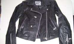 Rhino 'Brando' leather jac ket, As new worn once. Size