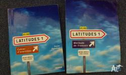 A level one text book in French and its accompanying