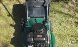 "VICTA 18"" ROTARY CUT LAWNMOWER.. POWERED BY A RELIABLE"