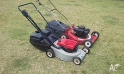 2 lawnmowers for $60 Both run well and are in