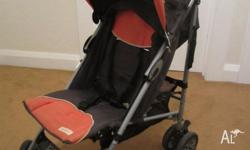 Childcare stroller in excellent used condition. Lays