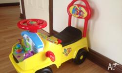 This is a good ride on car that will suit kids 1 to 4