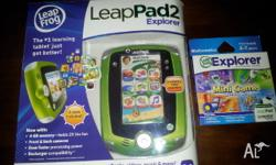 Brand new leap pad 2 green with an unopened copy of