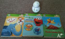 White junior tag pen (leapfrog) plus 3 books as seen in