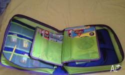 LeapPad with carry case and 6 books. Titles include: