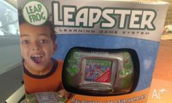 Used Leapster console, missing flip cover, letters A