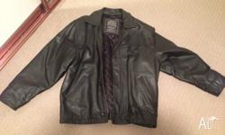 Black Mens Leather Jacket, excellent condition, only