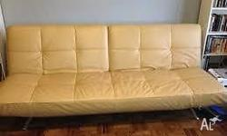 leather look double sofa bed length:2m, can be fold up