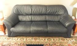 3 seater,2 seater and chair, navy blue, excellent