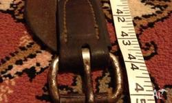 Perfect condition leather girth. 45 inches long