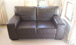 Great condition two seater leather sofa. Comfortable.