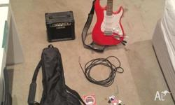 Cherry red ledgend guitar premium edition, electric