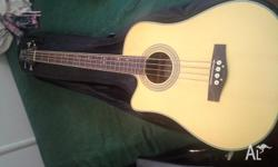 Ashton left handed acoustic bass in excellent condition