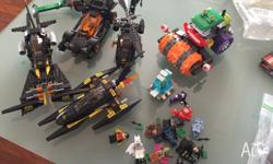 For sale are a bunch of Lego batman sets, they all must