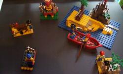 I have four sets of lego pirates for sale, as shown in