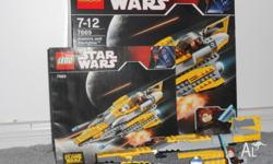 Fully assembled lego star wars Anakin's starfighter wih