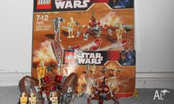 Fully assembled lego star wars hailfire droid and