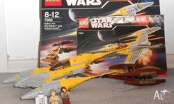 Fully assembled Lego Star Wars Naboo N-1 Starfighter