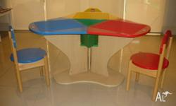 Lego Education Three Seat Playable wooden table. In