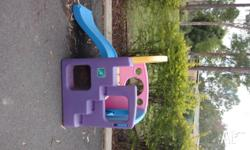 Well used Play gym, brightly coloured, our