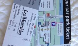 4 tickets X Les Misérables and a parking space at QPAC