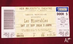 This is for one admission in the 2014 Les Miserables