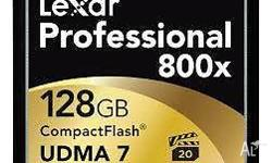 128GB Data Storage Capacity 800x Speed Rating Max. Read