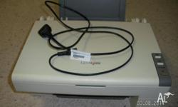 LEXMARK PRINTER X2350 PRINTS & SCANS COMES WITH DISC,