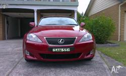 Lexus 2008 IS250 X in immaculate condition, with only