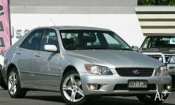 LEXUS,IS200,GXE10R,2004, RWD, Silver, LEATHER trim, 4D