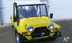 Mini Moke 1974 Yellow Duco , Great little car , motor