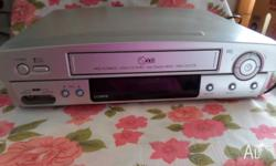 VHS PLAYER/RECORDER. LG Brand. GUC. Comes with remote.