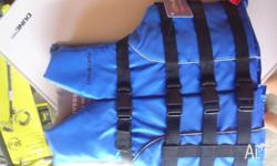 small adult life jacket blue 40-60kg PFD type 3 never