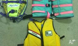 Life Jackets - PFD, 3 sizes Suit family boat Used