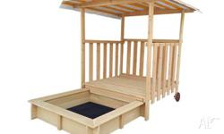 Lifespan�s Jack Sandpit with Canopy on Wheels is an