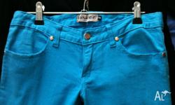 "Cool Light Blue Denim Jeans ""Wakee"" brand. Great"