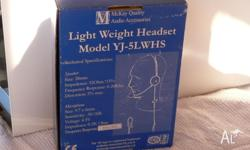 Light weight headset, model YJ-5LWHS, frequency