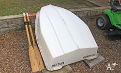 Lightweight Fiberglass 2 Person Tender / Dinghy Has