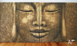 Limited Edition Gold and Black Thai Buddha canvas