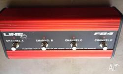 Line 6 FB4 Foot pedal for $125 4 channel pedal board